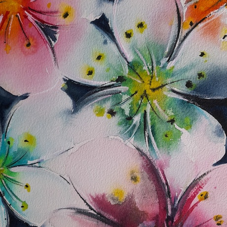 (CreativeWork) Beauty by Rachael Charalambous. Watercolour Paint. Shop online at Bluethumb.