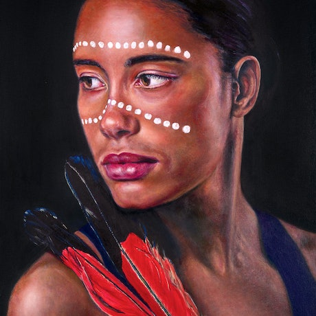 (CreativeWork) 'Spirit Guided' Original Oil on Stretched Canvas  by Tanya Cole. Oil Paint. Shop online at Bluethumb.