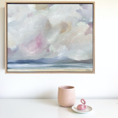 (CreativeWork) Low Cloud Rising by Marnie McKnight. Oil. Shop online at Bluethumb.