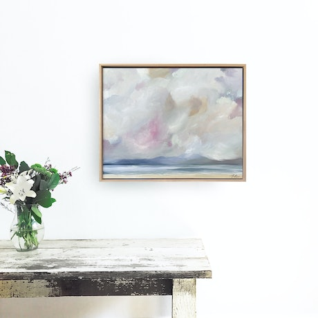 (CreativeWork) Low Cloud Rising by Marnie McKnight. Oil Paint. Shop online at Bluethumb.