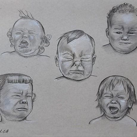 (CreativeWork) Feels by Liz H Lovell. Drawings. Shop online at Bluethumb.