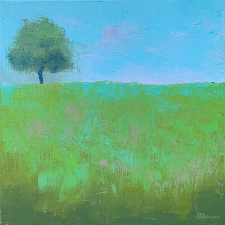 (CreativeWork) Always Green by Jessica Davidson. Oil Paint. Shop online at Bluethumb.