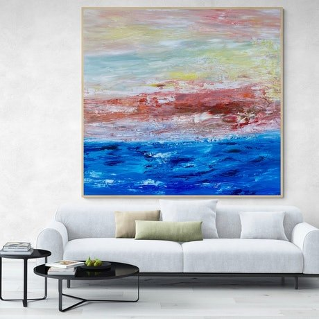 (CreativeWork) Ocean Breeze  by Theo Papathomas. Oil Paint. Shop online at Bluethumb.