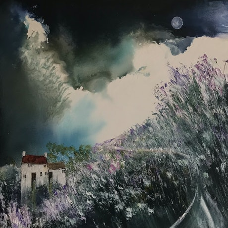 (CreativeWork) Still of a Winters Night by Meg Lewer. Acrylic Paint. Shop online at Bluethumb.