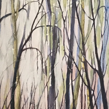 (CreativeWork) Sounds Of The Bush by Leanne Manns. Acrylic Paint. Shop online at Bluethumb.