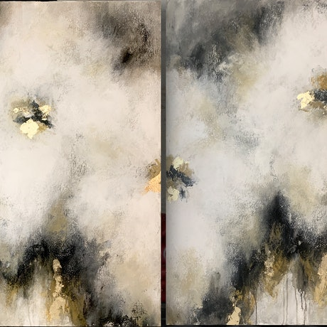 (CreativeWork) Crushed Toffee Parfaits, pair by Lisa Wisse-Robinson. Mixed Media. Shop online at Bluethumb.