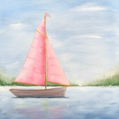 (CreativeWork) Lets go sailing #1 by Stephanie Siomos. Oil Paint. Shop online at Bluethumb.