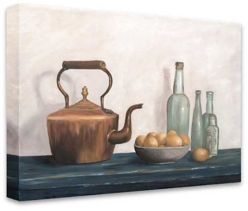 (CreativeWork) The Copper Kettle -  Oil Painting  by Johanna Larkin. Oil. Shop online at Bluethumb.