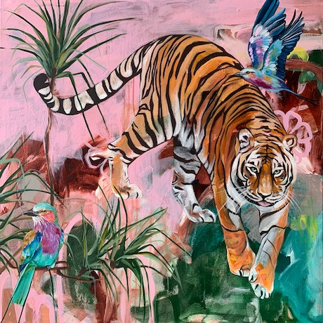 (CreativeWork) Jungle Boogie  by HEYLIE MORRIS. Acrylic. Shop online at Bluethumb.