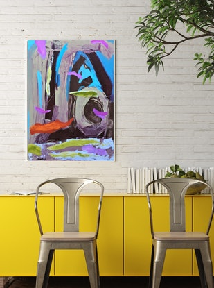 (CreativeWork) Floating Stillness by Joy Collection. Acrylic Paint. Shop online at Bluethumb.