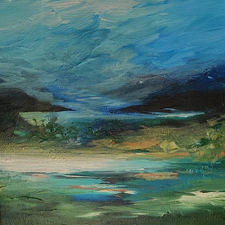 (CreativeWork) Paradise Point by Alice Howell. Oil. Shop online at Bluethumb.