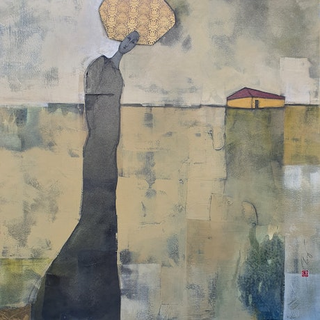 (CreativeWork) Queen of the House by Angela Ferreira. Mixed Media. Shop online at Bluethumb.