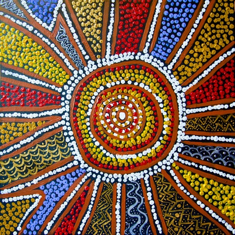 (CreativeWork) Welcome to Country    Ed. 3 of 50 by Cynthia Farr  Baruŋggam. Print. Shop online at Bluethumb.