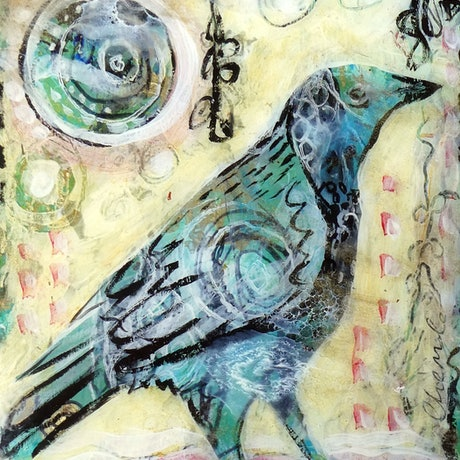 (CreativeWork) The Messenger's Gift by Cheryle Bannon. Mixed Media. Shop online at Bluethumb.