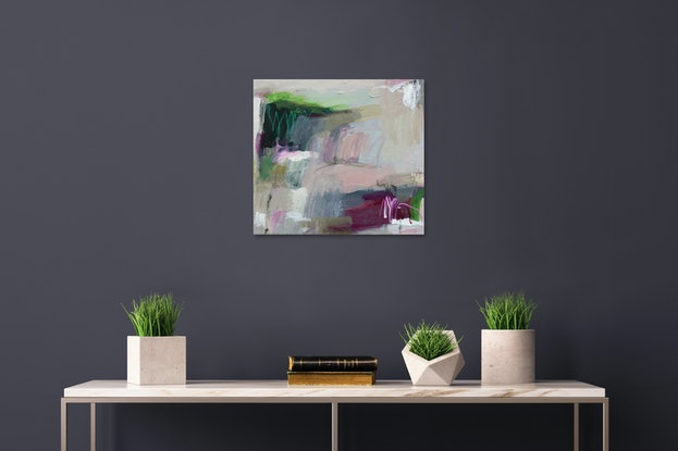 expressive abstract landscape in soft tones