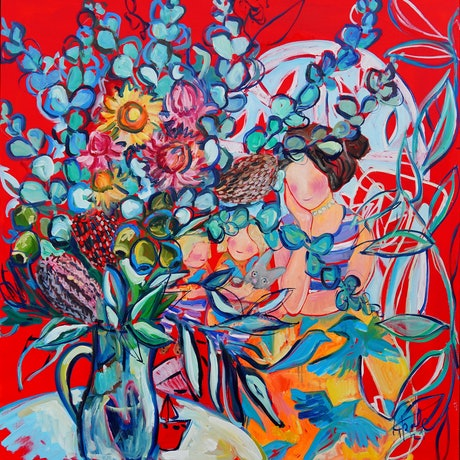 (CreativeWork) A Mother's Love by Katerina Apale. Oil Paint. Shop online at Bluethumb.