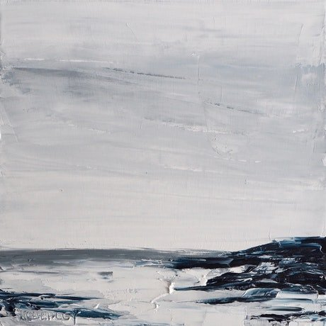 (CreativeWork) Tidal by Michelle Keighley. Oil Paint. Shop online at Bluethumb.