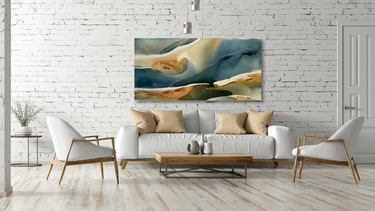 (CreativeWork) Helios by Dinah Wakefield. Acrylic. Shop online at Bluethumb.