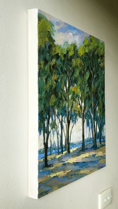 (CreativeWork) Afternoon sunlight by Fangmin Wu. Oil. Shop online at Bluethumb.