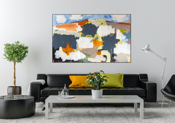 (CreativeWork) Blue Hills II by Michael Wolfe. Acrylic Paint. Shop online at Bluethumb.