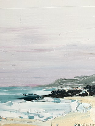 (CreativeWork) Hills Beach South by Michelle Keighley. Oil Paint. Shop online at Bluethumb.