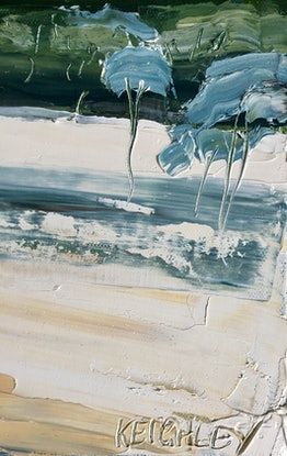 (CreativeWork) Meet me at the waterhole  by Michelle Keighley. Oil. Shop online at Bluethumb.