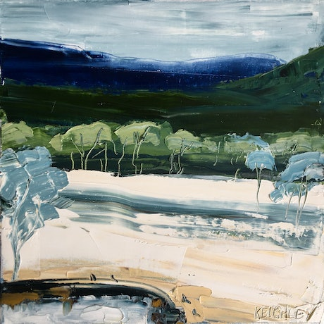 (CreativeWork) Meet me at the waterhole  by Michelle Keighley. Oil Paint. Shop online at Bluethumb.