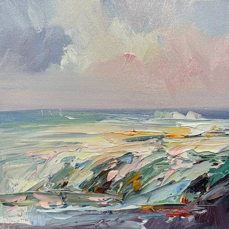(CreativeWork) Colours of the ocean No 13  by Liliana Gigovic. Oil Paint. Shop online at Bluethumb.