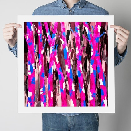 (CreativeWork) Trees of Love (Print)  by Gillie and Marc Schattner. Print. Shop online at Bluethumb.