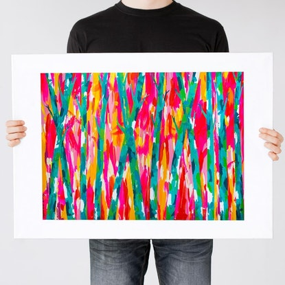 (CreativeWork) Trees of Green (Print)  by Gillie and Marc Schattner. Print. Shop online at Bluethumb.