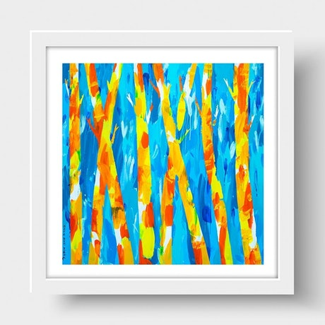 (CreativeWork) Trees of Friendship (Print) by Gillie and Marc Schattner. Print. Shop online at Bluethumb.