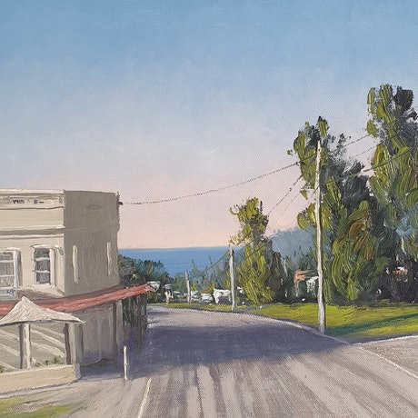 (CreativeWork) Springtime Morning Scarborough NSW  by Tez Dower. Oil. Shop online at Bluethumb.