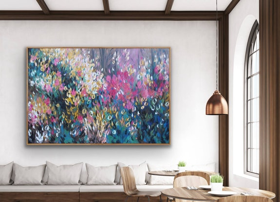 (CreativeWork) Wildflower - 150cm x 100cm  - Framed  Ed. 2 of 100 by Belinda Nadwie. Reproduction Print. Shop online at Bluethumb.