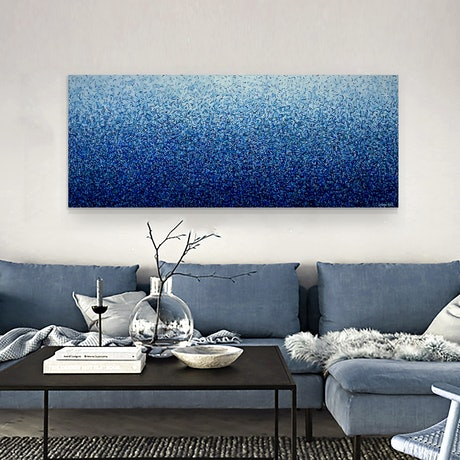 (CreativeWork) Currarong Water Dance Four 152 x 61cm acrylic on canvas by George Hall. Acrylic Paint. Shop online at Bluethumb.