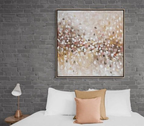 (CreativeWork) Blossoming - Painting with oak frame  by Belinda Nadwie. Oil. Shop online at Bluethumb.