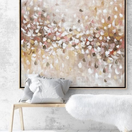 (CreativeWork) Blossoming - Painting with oak frame  by Belinda Nadwie. Oil Paint. Shop online at Bluethumb.