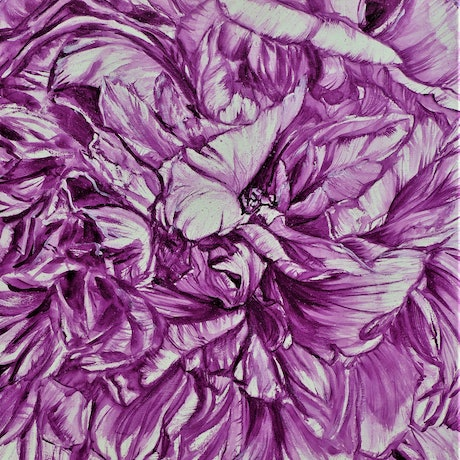 (CreativeWork) PEONY IN MAUVE  by HSIN LIN. Watercolour Paint. Shop online at Bluethumb.