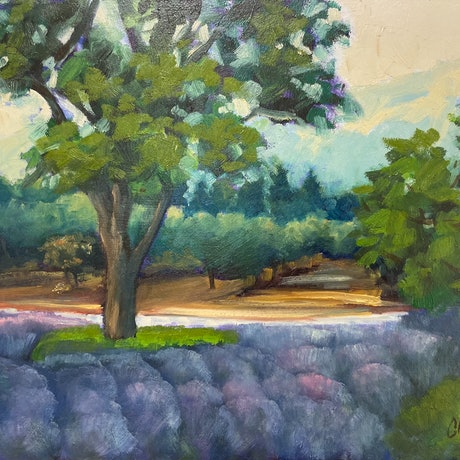(CreativeWork) French Lavender  by Chris Hobel. Oil Paint. Shop online at Bluethumb.