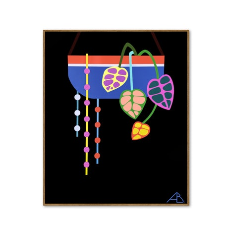 (CreativeWork) Hanging Planter No 8 by Andria Beighton. Acrylic Paint. Shop online at Bluethumb.