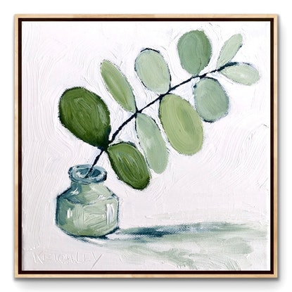 (CreativeWork) Soft Green Euc No.1 - RESERVED Elaine by Michelle Keighley. Oil. Shop online at Bluethumb.
