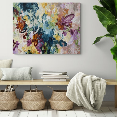 (CreativeWork) Flower Bouquet - Limited Edition Canvas Print  Ed. 1 of 15 by Amber Gittins. Print. Shop online at Bluethumb.
