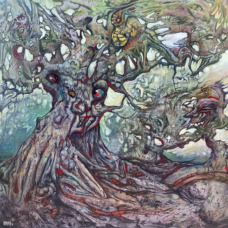 (CreativeWork) Biomass - Dreams of the forest by Laing Rahner. Acrylic. Shop online at Bluethumb.
