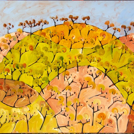 (CreativeWork) North Harcourt I by Michael Wolfe. Acrylic Paint. Shop online at Bluethumb.
