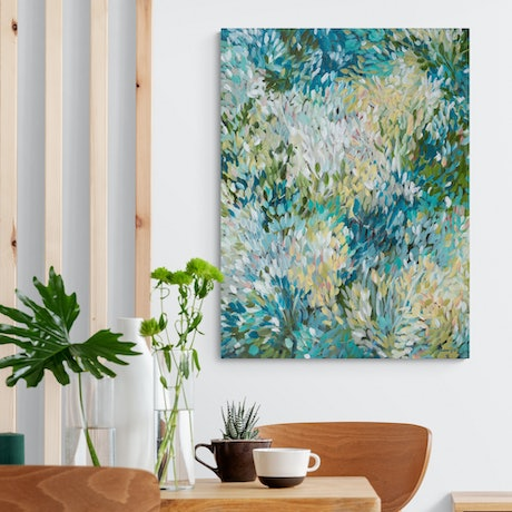 (CreativeWork) Natures Simplicity - Minimal Abstract Landscape by Amber Gittins. Acrylic Paint. Shop online at Bluethumb.