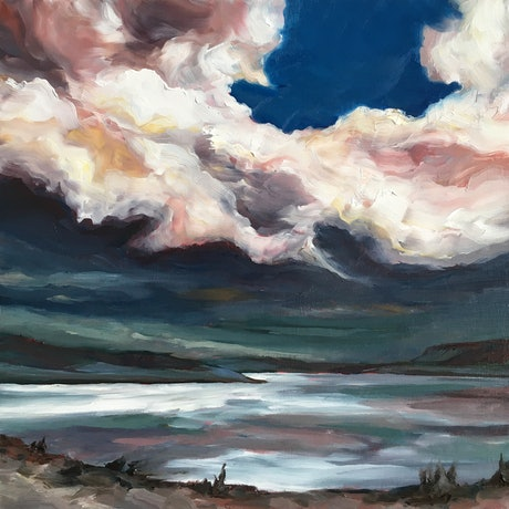 (CreativeWork) Calm before the Storm by april white. Oil Paint. Shop online at Bluethumb.