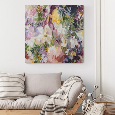 (CreativeWork) Blossoming Romance - Limited Edition Canvas Print  Ed. 1 of 15 by Amber Gittins. Print. Shop online at Bluethumb.