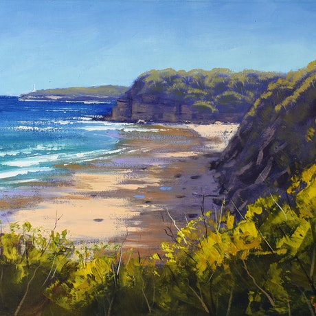 (CreativeWork) View to Norah head, nsw by Graham Gercken. Oil Paint. Shop online at Bluethumb.