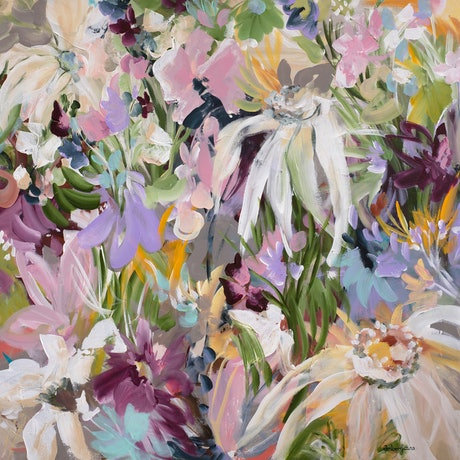 (CreativeWork) Fields of Wildflowers - Limited Edition Canvas Print Ed. 1 of 15 by Amber Gittins. Print. Shop online at Bluethumb.