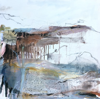 (CreativeWork) Sandflies and Spaciousness by Nicole Fearfield. Mixed Media. Shop online at Bluethumb.
