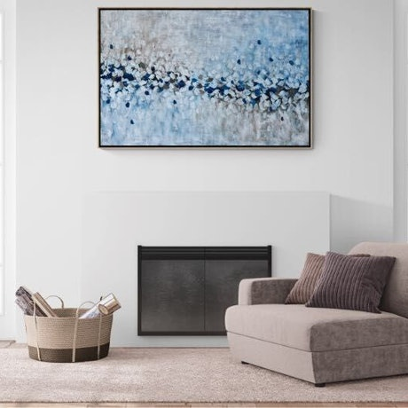 (CreativeWork) Snow Capped - Oil painting framed in oak by Belinda Nadwie. Oil Paint. Shop online at Bluethumb.